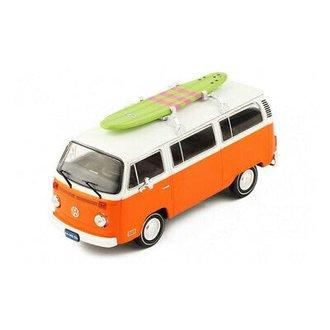 1975 VW T2 Bus w/Surfboard (Orange/White)