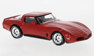 1:43 1980 Chevrolet Corvette C3 Hardtop (Red)