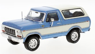 1:43 1978 Ford Bronco (Blue/White)