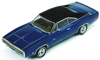 1:43 1970 Dodge Charger 500 (Blue w/Black Roof)