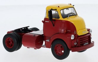 1:43 1954 GMC 950 Cannonball COE (Red/Yellow)
