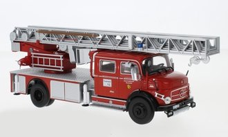 "1:43 Mercedes L1113 Rear Mount Fire Ladder Truck ""Feuerwehr Kaufbeuren"" (Red)"