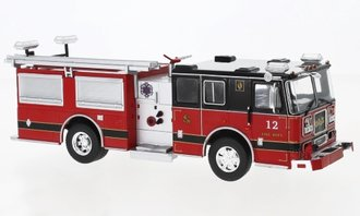 1:43 Seagrave Marauder II Fire Rescue Pumper (Red/Black)
