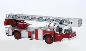 """1:43 Magirus DLK 2312 Rear Mount Fire Ladder Truck """"Feuerwehr Frankfurt"""" (Red)"""