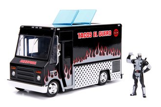 "1:24 Deadpool Food Truck ""Tacos El Guero"" (Black) w/Deadpool Figure"