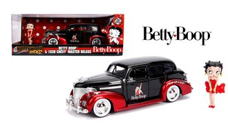 1:24 Hollywood Rides - 1939 Chevy Master Deluxe w/Betty Boop