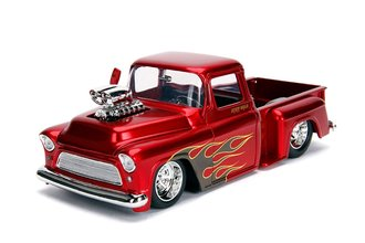 1:24 Just Trucks - 1955 Chevy Stepside (Candy Red)