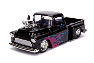 1:24 Just Trucks - 1955 Chevy Stepside (Glossy Black)