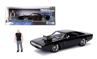 1:24 Fast & Furious - Dom's 1970 Dodge Charger R/T (Black) w/Dom Figure