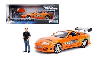1:24 Fast & Furious - Brian's Toyota Supra (Orange) w/Brian Figure