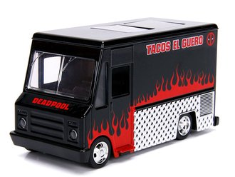 "1:43 5"" Hollywood Rides - Deadpool Food Truck (Black)"