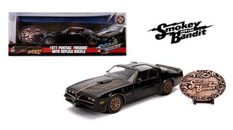1:24 Smokey and the Bandit 1977 Pontiac Firebird Trans Am w/Belt Buckle