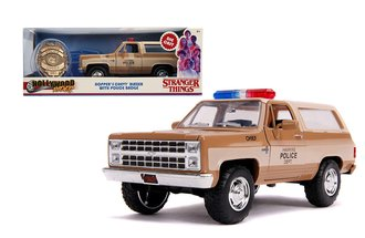 1:24 Stranger Things Hopper's Chevy Blazer w/Police Badge