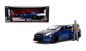 1:18 Furious 7 - 2009 Nissan GT-R (R35) w/Brian Figure