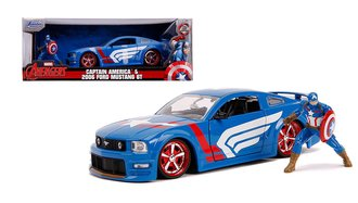 1:24 Hollywood Rides - 2006 Ford Mustang GT w/Captain America