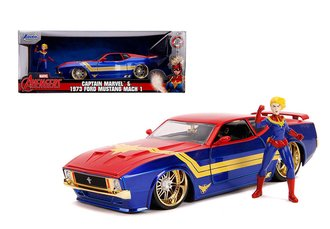 1:24 Hollywood Rides - 1973 Ford Mustang Mach 1 w/Captain Marvel
