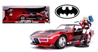 1:24 Hollywood Rides - 1969 Corvette Stingray w/Harley Quinn