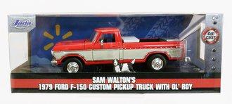 Sam Walton's 1979 Ford F-150 Custom Pickup Truck w/Ol' Roy (Red)