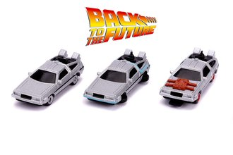 "Nano Hollywood Rides - 1.65"" Back To The Future Time Machines (3-Pack)"