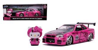 1:24 Hello Kitty - 2002 Nissan Skyline GT-R (R34) w/Hello Kitty Figure