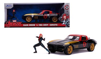 1:24 Hollywood Rides - Marvel - 1963 Corvette w/Black Widow