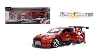 1:24 Power Rangers - 2009 Nissan GT-R (R35) w/Red Ranger Figure