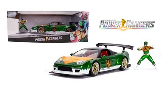 1:24 Power Rangers - 2002 Honda NSX Type-R Japan Spec w/Green Ranger Figure