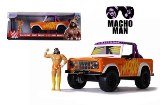1:24 Macho Man - 1973 Ford Bronco w/Macho Man Figure