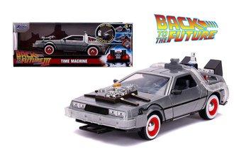 1:24 Back to the Future III (1990) - DeLorean Time Machine w/Lights