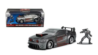 1:32 Hollywood Rides - Avengers War Machine Figure & 2006 Ford Mustang GT (Silver)