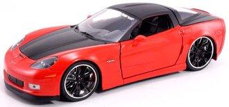 1:24 2006 Corvette Z06 (Red) w/Black Slingshot Rims