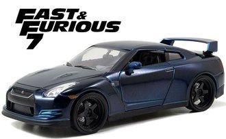 "1:24 F&F - Brian's Nissan GT-R (R35) (Blue) ""Furious 7 (2015)"""