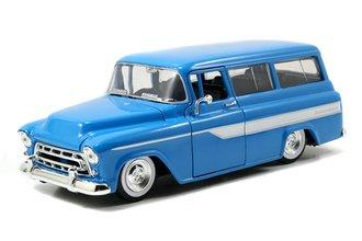 1:24 Just Trucks - 1957 Chevrolet Suburban (Blue w/White Stripes)