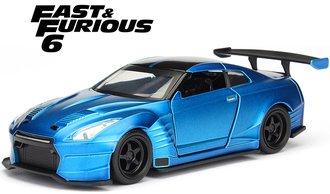 """1:32 F&F - Brian's Nissan GT-R (R35) Bensopra (Blue) """"Fast & Furious 6 (2013)"""""""