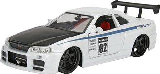 1:24 JDM Tuners - 2002 Nissan Skyline GT-R (R34) (White/Black)