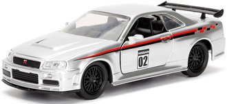 1:32 JDM Tuners - 2002 Nissan Skyline GT-R (R34) (Candy Silver)