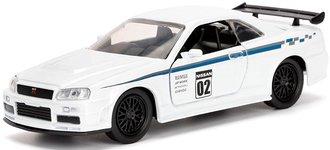 1:32 JDM Tuners - 2002 Nissan Skyline GT-R (R34) (Pearl White)