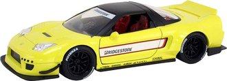 1:24 JDM Tuners - 2002 Honda NSX Type-R Japan Spec Widebody (Yellow/Black)