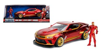 1:24 Iron Man - 2016 Chevrolet Camaro SS w/Iron Man Figure