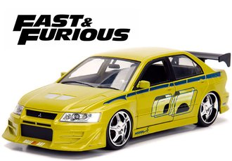 1:24 Fast & Furious - Brian's Mitsubishi Lancer Evolution VII (Green)