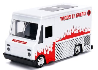 "1:43 5"" Hollywood Rides - Deadpool Food Truck (White)"