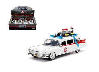 Display Box of 4 - 1:24 Ghostbusters™ Ecto-1 1959 Cadillac Ambulance
