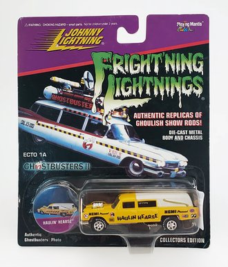 1:64 Frightning Lightning - Hauln' Hearse (Yellow)  ***Soft Corners***