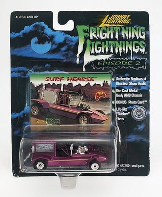 1:64 Frightning Lightning - Surf Hearse (Purple)  ***Soft Corners***