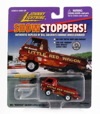"""1:64 Show Stoppers! - Bill """"Maverick"""" Golden's Little Red Wagon (Red)"""