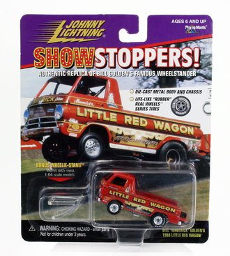 """1:64 Show Stoppers! - Bill """"Maverick"""" Golden's 1988 Little Red Wagon (Red) *** Soft Corner(s) ***"""