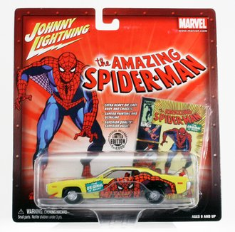 1:43 The Amazing Spider-Man - 1971 Plymouth Road Runner (Yellow)