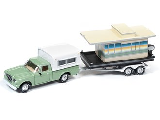 1:64 1960's Studebaker Truck w/Houseboat (Oasis Green)