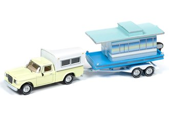 1:64 1960's Studebaker Truck w/Houseboat (Jonquil Yellow)