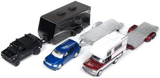 Johnny Lightning 1:64 Truck & Trailer Series Release 3A (Set of 3)